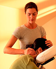 Massage Therapist give a massage