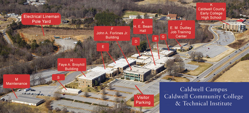 Caldwell Campus Map