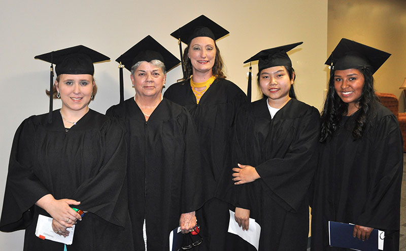 Pictured from left are Selina Bartley, Sue Isenhour, Jenny Morin, Ahn Pham and Marissa Seaman.