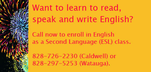 Want to learn to read, speak and write English? Classes available
