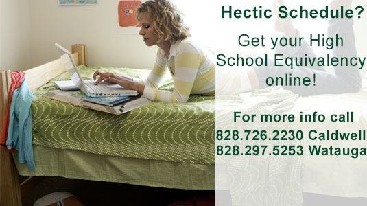 Get your High School Equivalency. Call 828.726.2230 for information