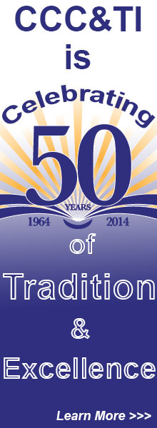 CCC&TI celebrating 50 years ad