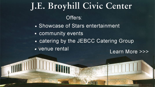 JE Broyhill Civic Center ad