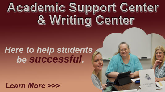 Academic Support Center and Writing Center Ad