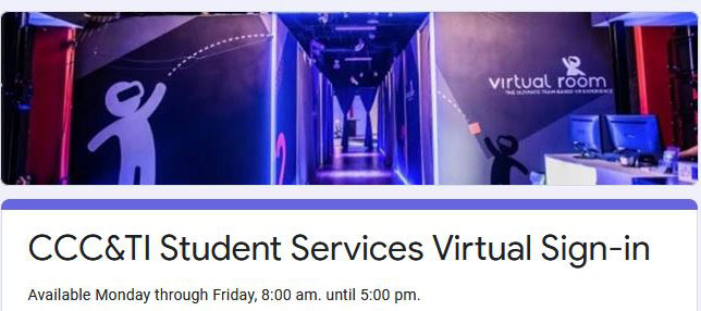 Student Services Virtual Sign In Form