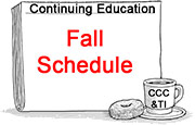 Fall CCE schedule
