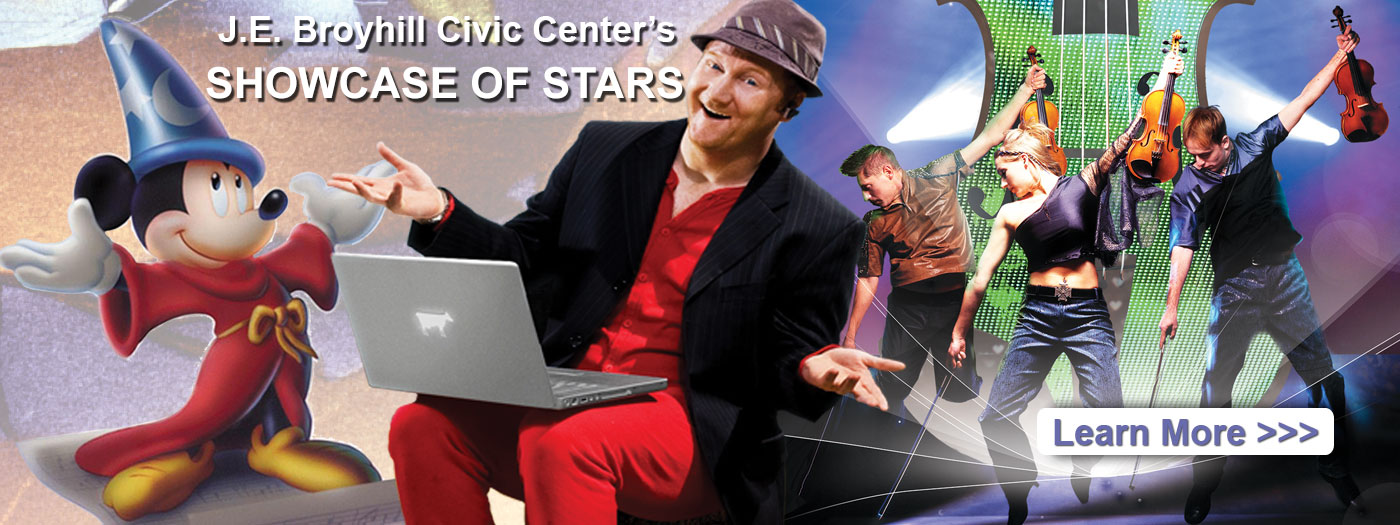 J. E. Broyhill Civic Center offers Showcase of Stars entertainment, community events, catering by the JEBCC Catering Group, venue rental
