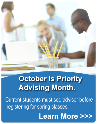 Academic Advisor Month starts 10/15/2014 - Current students must see advisor before registering for spring classes