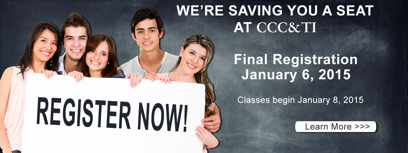 Spring Registration December 4 - Last day to register for Spring Classes