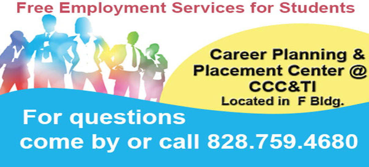 CCC&TI Career Planning & Placement Center Ad