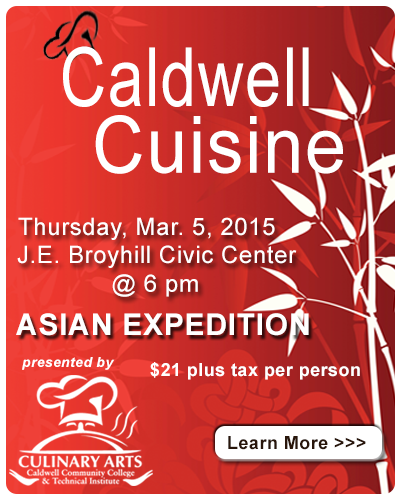 Caldwell Cuisine Asian Expedition Event Ad