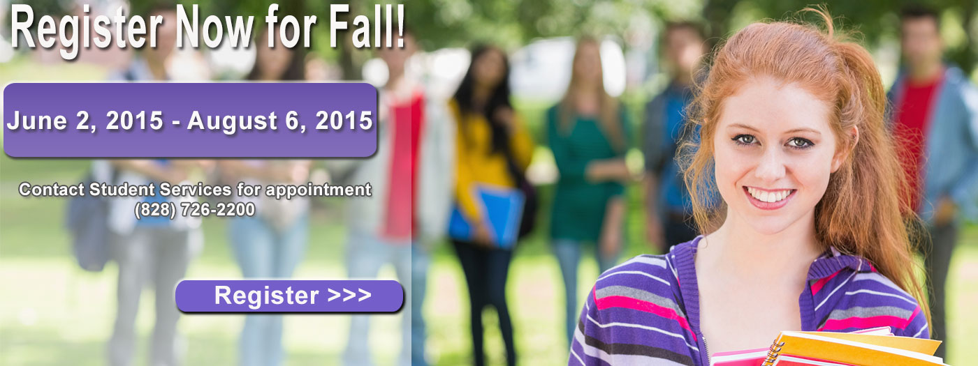 Summer & Fall Registration April 9 - 23, 2015