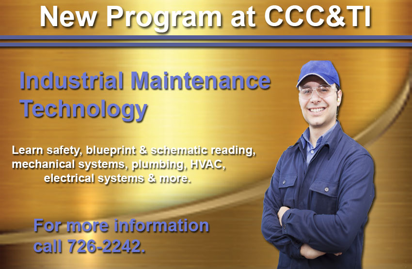 New Program at CCC&TI - Industrial Maintenance
