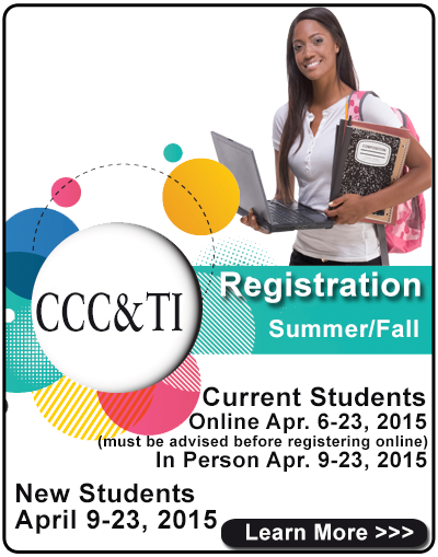 Summer and Fall Registration - April 9 - 23, 2015