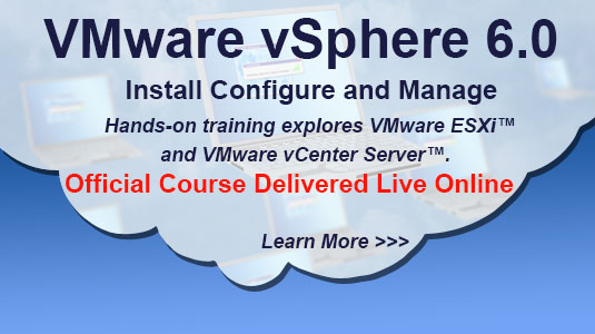 vmWare vSphere 6 Install, configure and Manage Training
