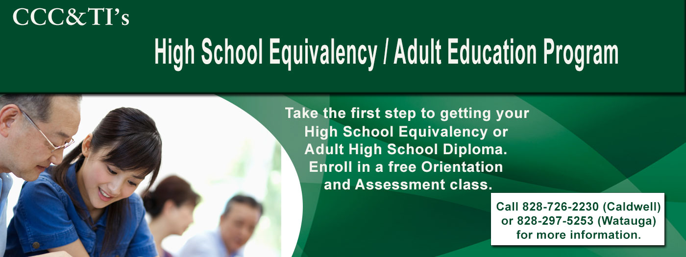 CCC&TI offfers High School Equivalency Program