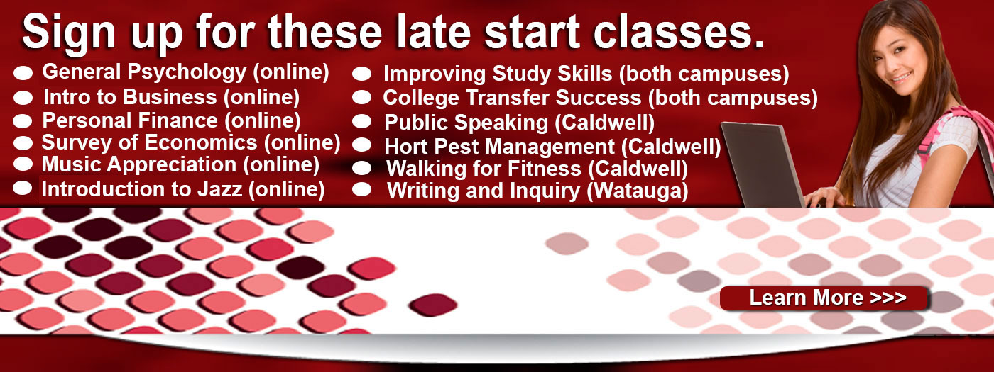 Sign up for Late Start Classes