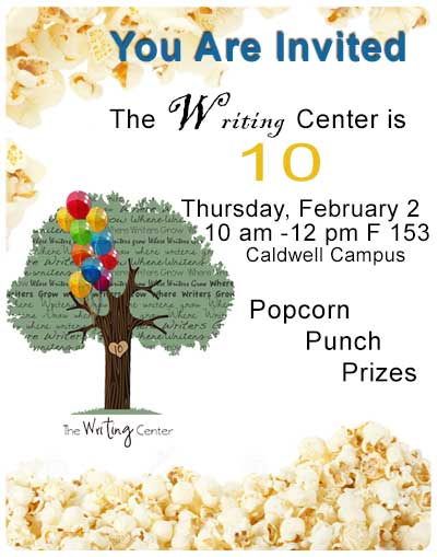 Writing Center is 10 year old - celebration on 2/2