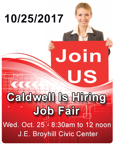 Caldwell is hiring event 10/25/2017