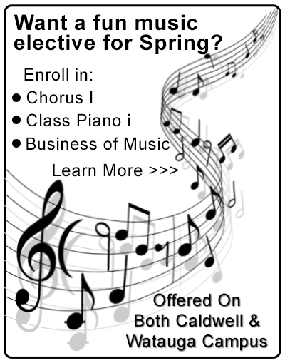 Music electives for Spring 2018