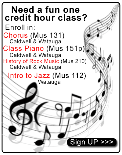 Music electives for Fall 2018