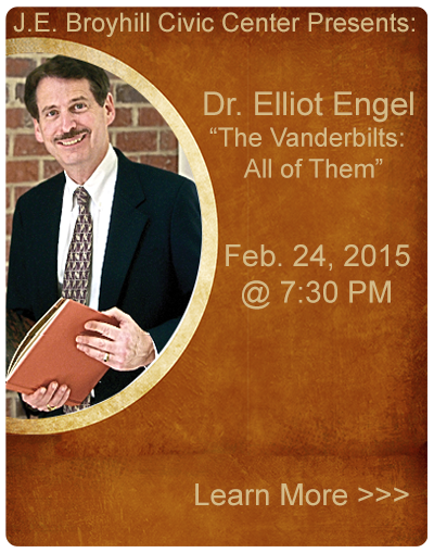 J E Broyhill Civic Center Presents: Dr. Elliot Engel - The Vanderbilts, All of Them - February 24, 2015 @ 7:30 Pm