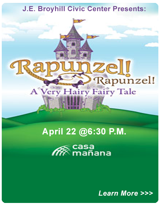 J.E. Broyhill Civic Center presents :Rapunzel, April 21 at 6:30 P.M.