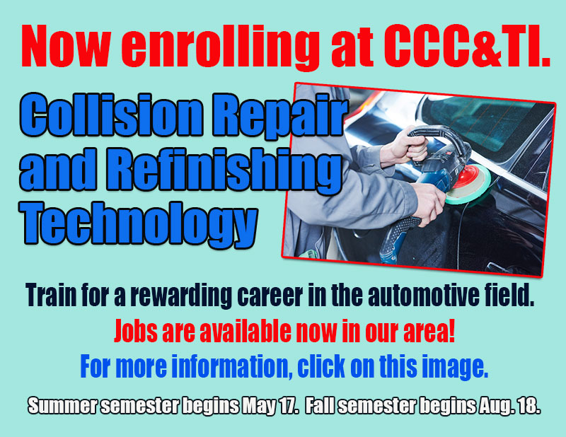 ad for Collision Repair and Refinishing Technology Program