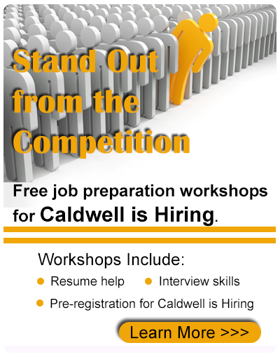 Free Job Preparation workshops for Caldwell is Hiring Event
